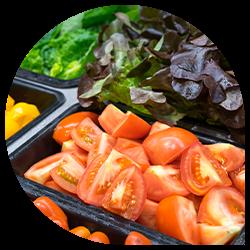 Fresh ingredients for a salad bar