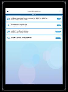 SmartSense app scheduled checklists