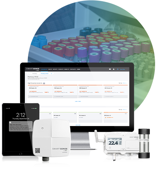 SmartSense system and temperature sensitive medical samples