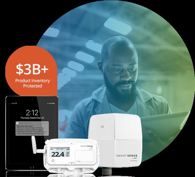 SmartSense System with warehouse employee