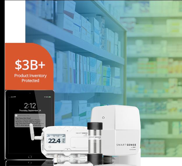 SmartSense System with shelf of medicine