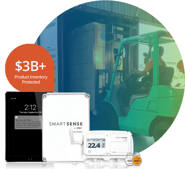 SmartSense System with forklift unloading truck